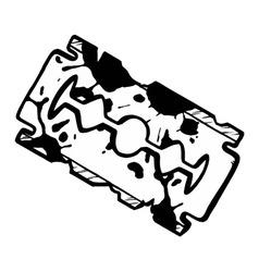 grunge razor blade vector image vector image
