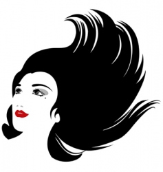 hair silhouette vector image