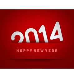 Happy New Year 2014 from paper vector image