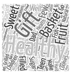 Healthy gift basket word cloud concept vector