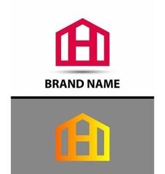 Letter H logo real estate symbol vector image