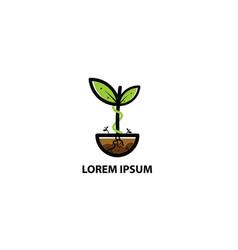 logo plant vector image vector image