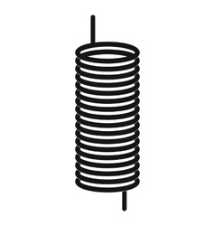 Metal spring icon simple style vector