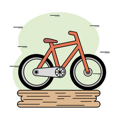Orange bike icon vector