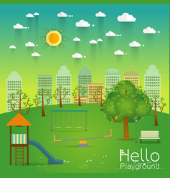 playground natural landscape in the flat style a vector image