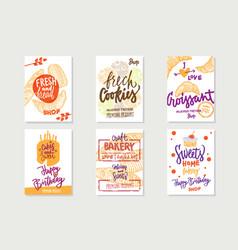 sketch premium bakery posters vector image
