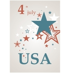 Stars in scattered poster vector