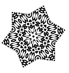 Stylized star mandala vector