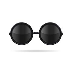 Sunglasses with Black Glasses on White Background vector image