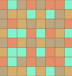 The pattern diagonal color lines vector image vector image