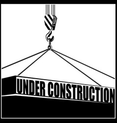 under constructiom vector image
