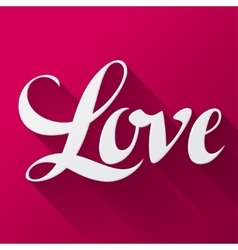 Valentine day background with word love on pink vector image vector image