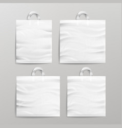 white empty reusable plastic shopping realistic vector image vector image