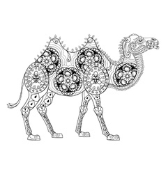 Zentangle Camel totem for adult anti stress vector image vector image