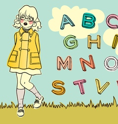 Abc girl vector