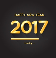 2017 loading progress bar-happy new year concept vector