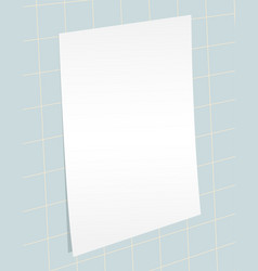 Blank paper template vector