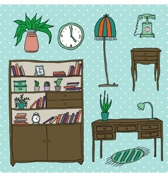 Furniture - set of design elements vector