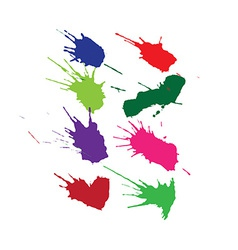 Set of ink blots vector
