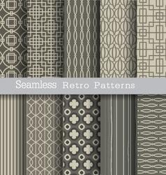 set seamless pattern retro vector image