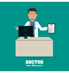 Doctor design medical and healthcare concept vector