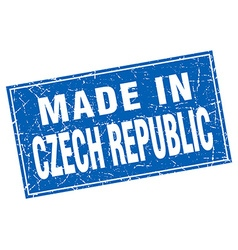 Czech republic blue square grunge made in stamp vector