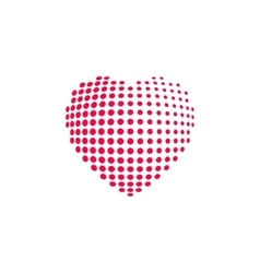 Dotted heart shape isolated vector image