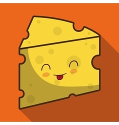Breakfast design kawaii cheese icon vector
