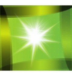 Abstract green technical background with burst vector