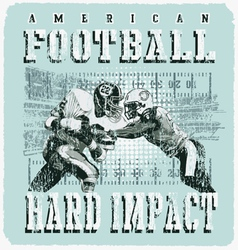 american football player impact vector image