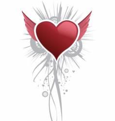 angel hearts vector image vector image