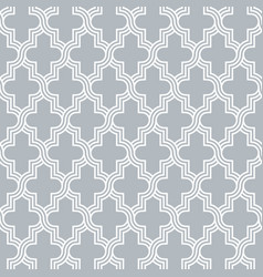 Arabesque quatrefoil lattice pattern outline vector