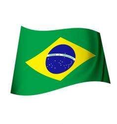 brazil flag vector image vector image