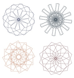 Colorful spirographs vector