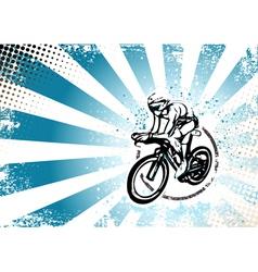 cyclyng poster vector image vector image