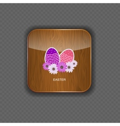 Easter wood application icons vector image vector image