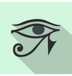 Eye of Horus icon flat style vector image