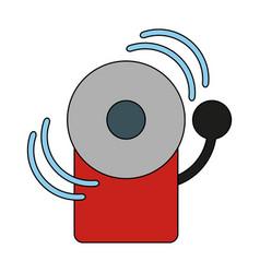 fire alarm icon image vector image