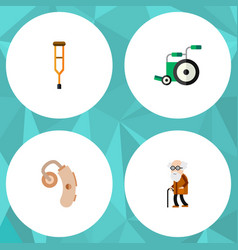 Flat icon disabled set of equipment stand vector