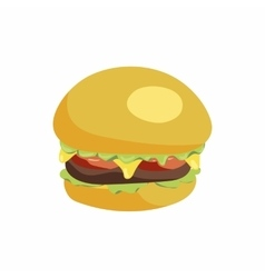 Hamburger icon in cartoon style vector image vector image