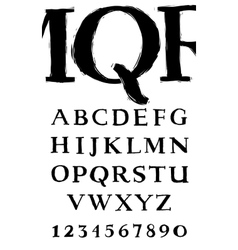 Handwritten serif alphabet vector