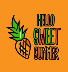Hello sweet summer poster vector