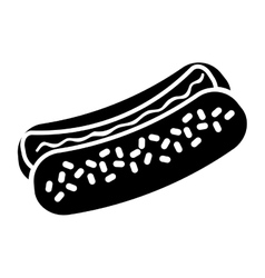 Hot dog fast food icoon vector