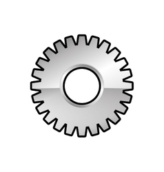 Metal gear cog machine part icon vector