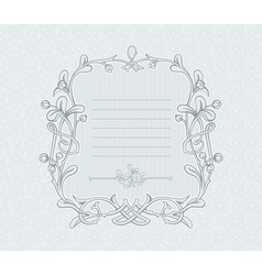 Mistletoe Decorative Frame vector image