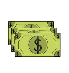 Money bills isolated vector