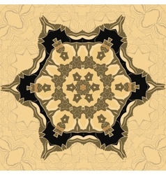 Oriental ornamental pattern in brown color vector