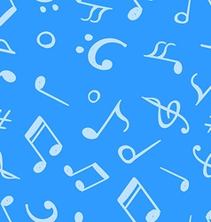 Seamless pattern from hand drawn music notes and vector image vector image