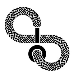 Shoe lace infinity symbol vector