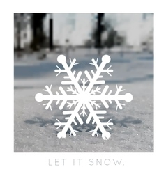 snowflake on a blurred background vector image vector image